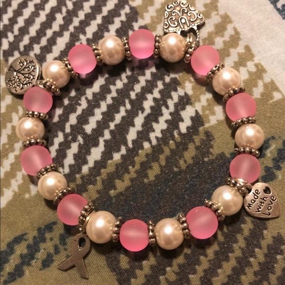 Jewelry - Breast cancer homemade bracelet